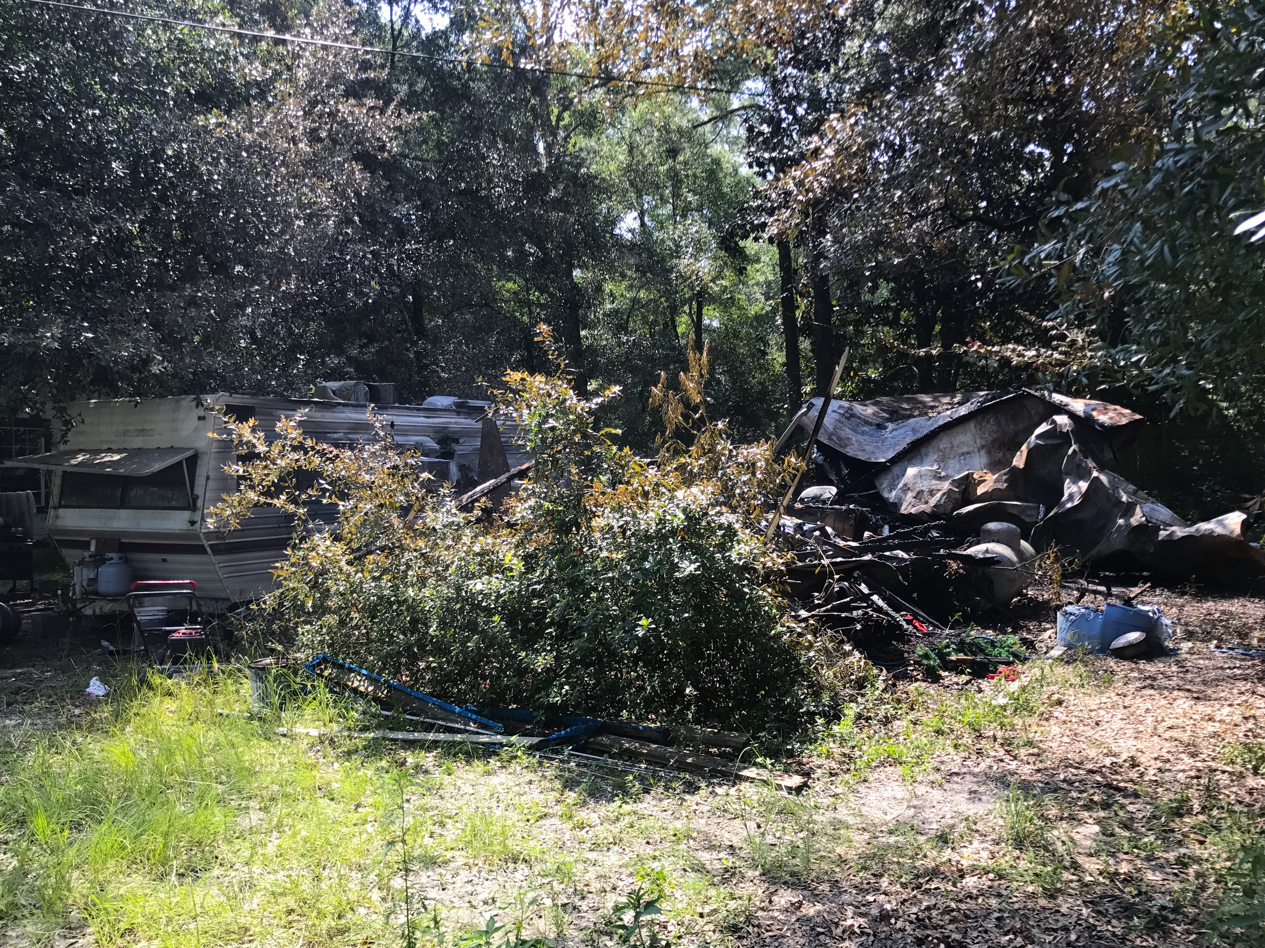OVERNIGHT STRUCTURE FIRE DESTROYS FREEPORT MOBILE HOME
